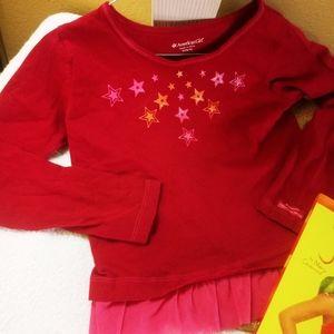 American Girl FASHION SHOW modeling shirt +2 books